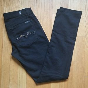7 For all man kind jeans with stones blk